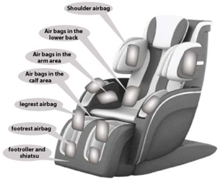 Apex AP Vista Massage Chair Air Massage - Chair Institute