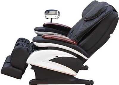 Side view of an upright Bestmassage ECO6 massage chair