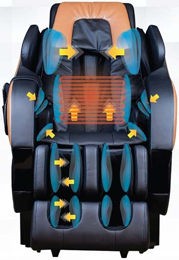 Massage Chair for Tall Person Kahuna SM7300 Air Massage - Chair Institute