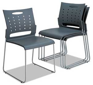 An Image of Stacking Chairs for Different Types of Chairs in Office