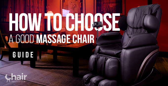Dark grey massage chair in a living room