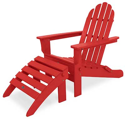 An Image of Adirondack Chair Red Color for Types of Adirondack Chairs