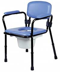 An Image of Bedside Commode Chair for Types of Commode Chairs