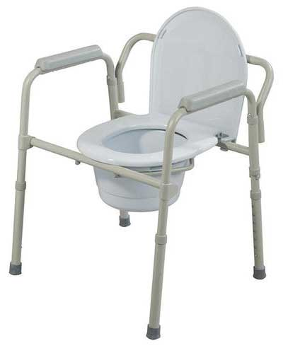 An Image of Commode Chair Model of Types of Commode Chairs