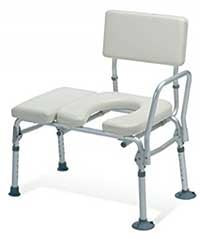 An Image of Transfer Commode Chair for Types of Commode Chair