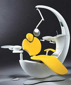 An Image of Dental Chair Mounted Design for Types of Dental Chair