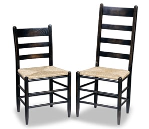 An Image of Ladderback Chair for Type of Restaurant Chair