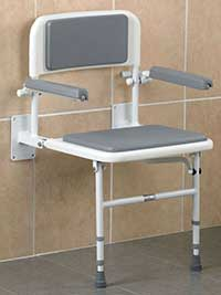 An Image of Fold Down Chair for Types of Shower Chairs