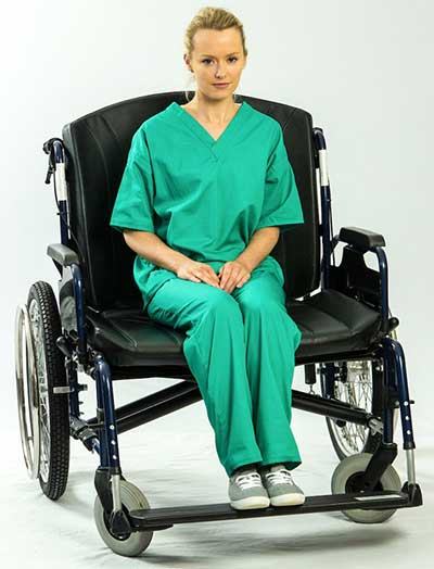 An Image of Bariatric Wheelchair for Types of Motorized Wheelchairs