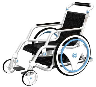 An Image of Ergonomic Wheelchair for Types of Wheelchairs for Elderly