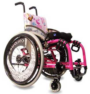 An Image of Pediatric Wheelchair for Types of Power Wheelchairs