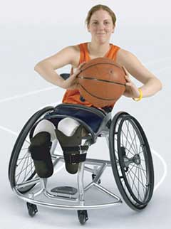 An Image of Sports (Racing) Wheelchair for Types of Manual Wheelchairs