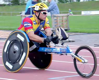 An Image of Sports (Racing) Wheelchair for Types of Wheelchairs