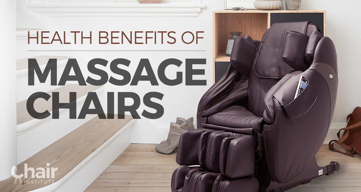 A dark brown massage chair next to a staircase