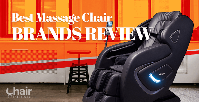 Image of a black massage chair in an apartment