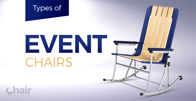 Types of Event Chairs Banner