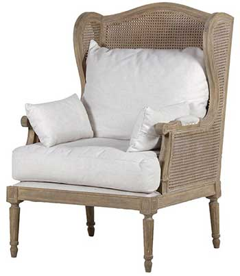 An image of midland oak bergere chair for bergère chair reviews