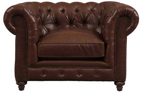 An Image of Leather Club Chesterfield Chair for Types of Chesterfield Chairs