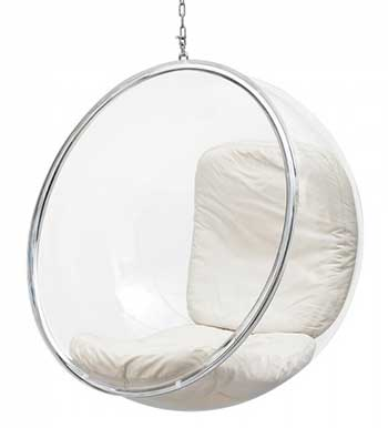 An Image Sample of ​Classic Hanging Chair for Bubble Chairs Reviews