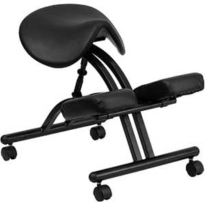 An Image of a Ergonomic Kneeling Chair With Saddle Seat