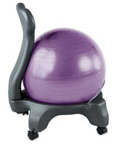 An Image of ​Office Ball Chairs (Office Design) of Ball Chairs and Exercise Balls Reviews