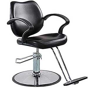 An Image of FlagBeauty Black Hydraulic Barber Styling Chair