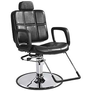 An Image of Reclining Shampoo Styling Hydraulic Barber Chair