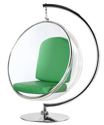 An Image of FineMod FMI1122 Bubble Chair for the Different Types of Bubble Chairs