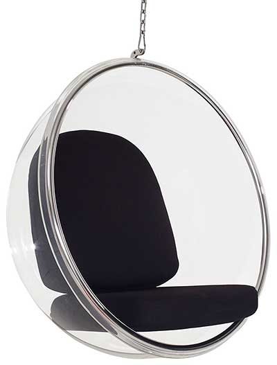 An Image of Modway Eero Aarnio Style Bubble Chair for the Different Types of Bubble Chairs