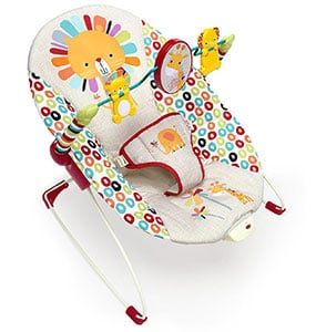 An Image of Bright Starts Playful Pinwheels Bouncer Chair