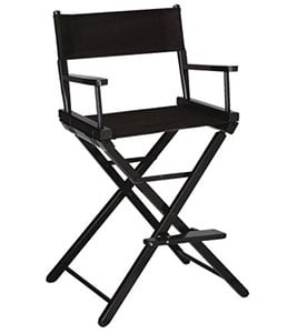 A Sample Image of Gold Medal 30inch Bar Height Black Frame Directors Chair