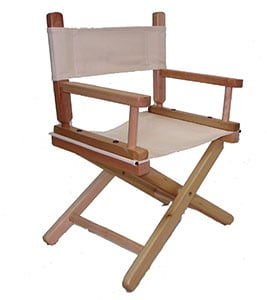 A Sample Image of PERSONALIZED EMBROIDERED Natural Frame Toddler's Directors Chair