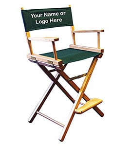 A Sample Image of Personalized Imprinted Counter Height Director's Chair
