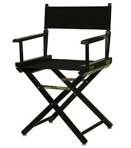 A Sample Image of YuShan Black Frame 18-inch Director's Chair
