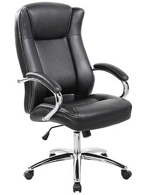 An Image of 9042-1 Executive High-Back PUPVC Leather Office Chair