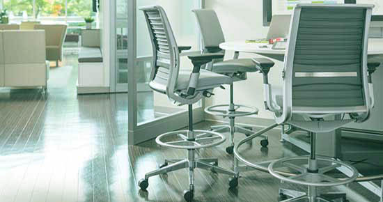 An Image Sample of Office Drafting Stool Chair