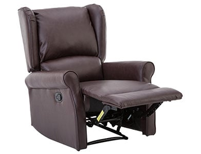 An Image of BONZY Leather Recliner Chair for the Types of Easy Chairs
