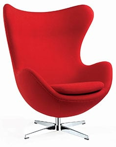 An Image Sample of ​​​​Egg Couch (The Swan) Chair for Egg Chair Overview