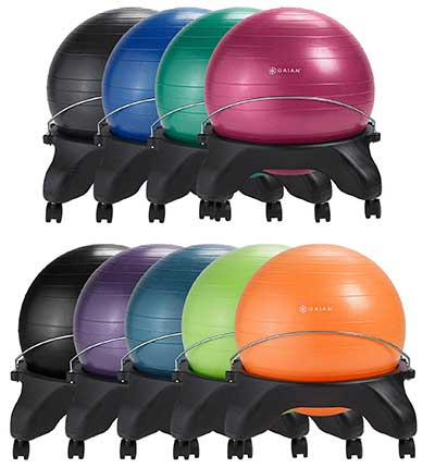 Gaiam Balance Ball Chair Review Color Variants - Chair Institute