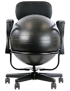 An Image Sample of Front View of Cando Metal Ball Chair