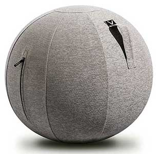 An Image Sample of Front View of Vivora Luno Ball Chair