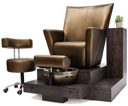 An Image Sample Of Front View Of Belava Elevate For Best Pedicure Chairs