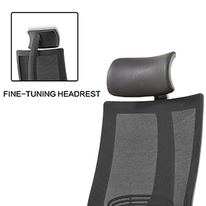 An Image Sample of Adjustable Headrest and High-Density Mesh of CMO Mesh Ergonomic Office Chair