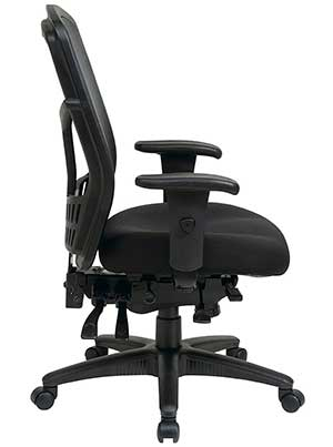 An Image Sample Of Side View Office Star High Back Managers Chair