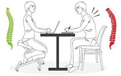 An Image Illustration of Sleekform Ergonomic Kneeling Chair Health Benefits