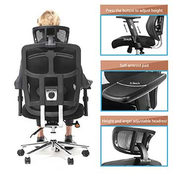 An Image S&le of TOPSKY Mesh Office Chair Features  sc 1 st  Chair Institute & TOPSKY Ergonomic Mesh Office Chair Review - August 2018