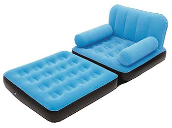 An image of Bestway Multi-Max Inflatable Chair in blue color