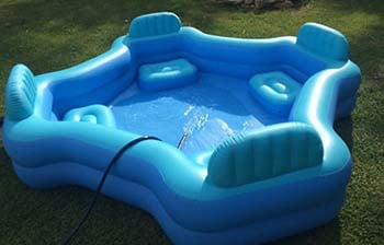 An image of Intex Pool Lounge in blue color