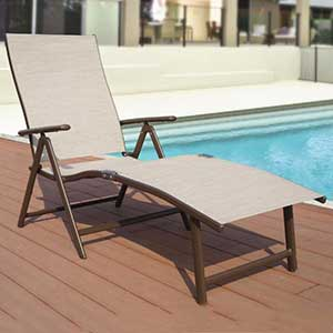 An Image Sample of Poolside Loungers: One