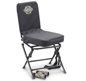 An image of Guide Gear Swivel Hunting Chair in black color